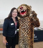 President Ponce with leopard mascot