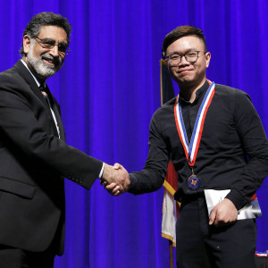 Khai Nguyen was one of two Temple College students honored at the 2019 All-Texas Academic Team Medallion Ceremony at UT-Arlington. (Photo by Ellman Photography)